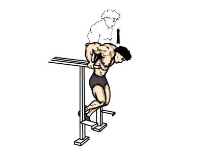 Tricepsové kliky na bradlech