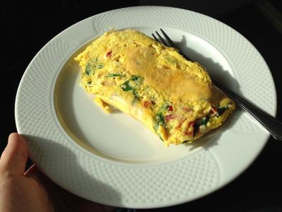 Vaječná omeleta se zeleninou